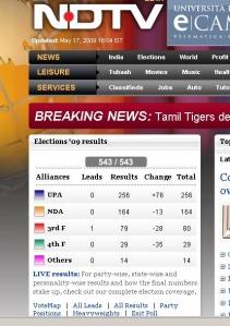 I risultati della televisione all news NDTV