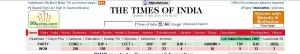 I risultati del Times of India